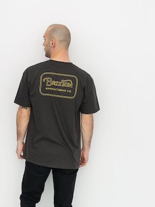 T-shirt Brixton Grade Stnd (washed black/bronze)