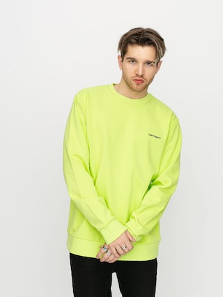 Bluza Carhartt WIP Script Embroidery (lime/black)