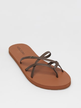 Klapki Volcom New School II Wmn (brown)