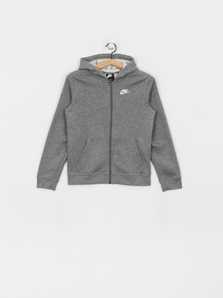 Bluza z kapturem Nike Club JR ZHD (carbon heather/smoke grey/white)