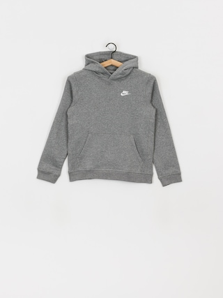 Bluza z kapturem Nike Club JR HD (carbon heather/white)
