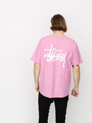 T-shirt Stussy Basic Stussy (pink)