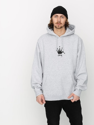 Bluza z kapturem Stussy Old Crown HD (ash heather)