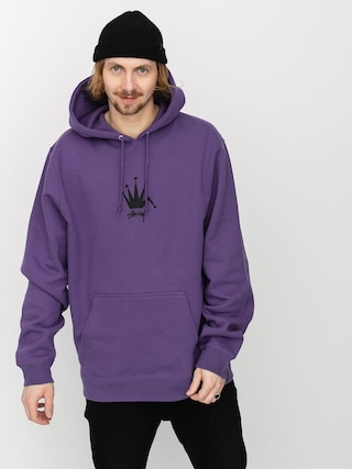 Bluza z kapturem Stussy Old Crown HD (purple)