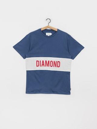 T-shirt Diamond Supply Co. Lafayette Paneled Knit (navy)