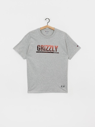 T-shirt Grizzly Griptape X Champion Stamp Fadeaway (grey heather)