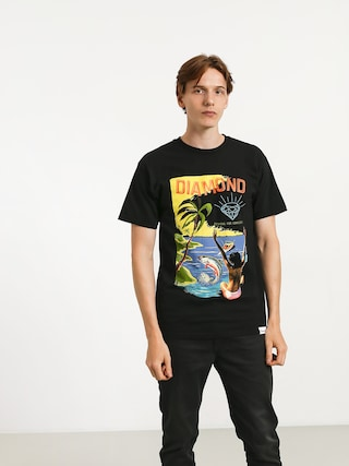 T-shirt Diamond Supply Co. Fishing For Compliments (black)
