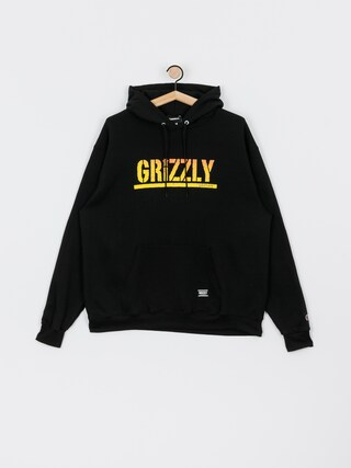 Bluza z kapturem Grizzly Griptape X Champion Stamp Fadeaway HD (black)
