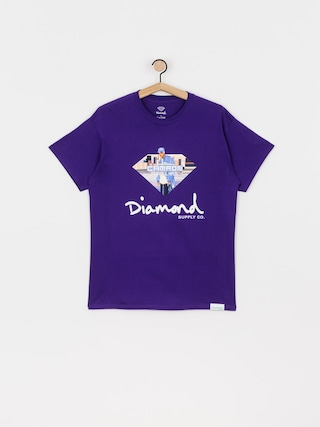 T-shirt Diamond Supply Co. Cam Ron Sign (purple)
