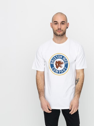 T-shirt Brixton Forte Stt (white/brown)
