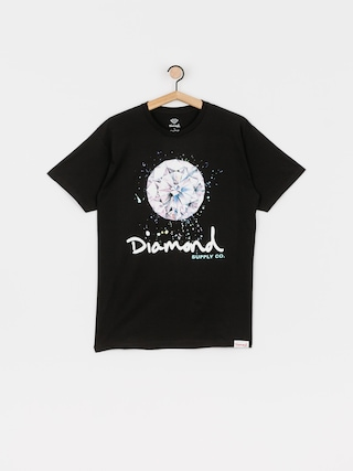 T-shirt Diamond Supply Co. Splash Sign (black)
