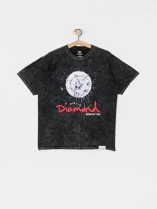 T-shirt Diamond Supply Co. Splash Sign Mineral Wash (black)