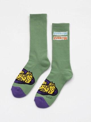 Skarpetki RVCA Hot Fudge Crew Sock (green)