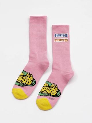 Skarpetki RVCA Hot Fudge Crew Sock (pink)
