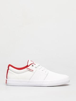 Buty Supra Stacks Vulc II (white/red white)