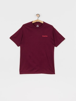T-shirt Emerica Pure Triangle (burgundy)