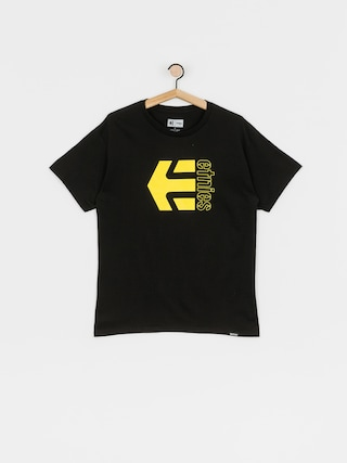 T-shirt Etnies Corp Combo (black/yellow)