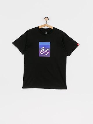 T-shirt eS Block Gradient (black/purple)