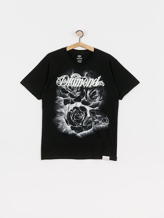 T-shirt Diamond Supply Co. Giant Script Blossom (black)