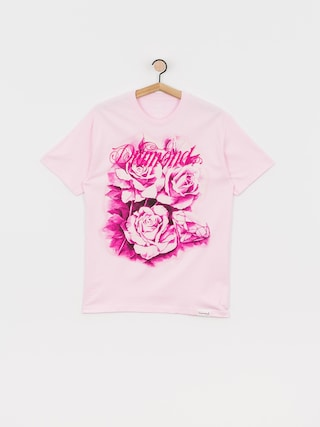 T-shirt Diamond Supply Co. Giant Script Blossom (pink)