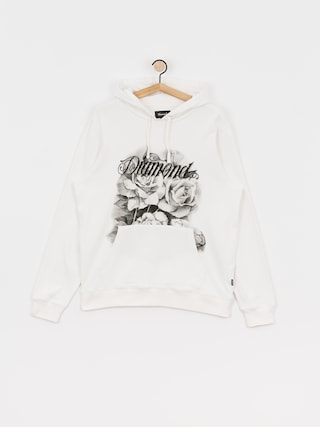 Bluza z kapturem Diamond Supply Co. Giant Script Blossom HD (white)