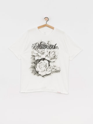 T-shirt Diamond Supply Co. Giant Script Blossom (white)