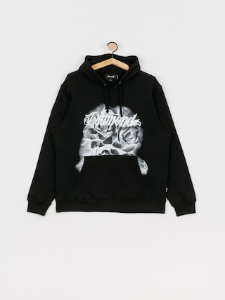 Bluza z kapturem Diamond Supply Co. Giant Script Blossom HD (black)