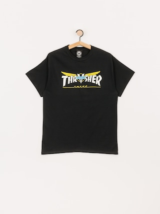 T-shirt Thrasher Venture Collab (black)
