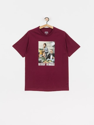 T-shirt DGK Runnin Numbers (burgundy)