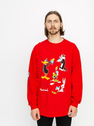 Longsleeve Diamond Supply Co. Looney Tunes (red)