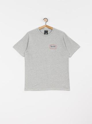 T-shirt Brixton Grade Stnd (heather grey/orange)