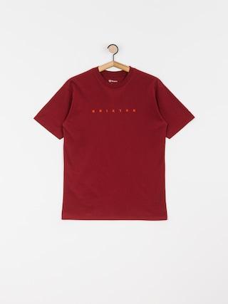 T-shirt Brixton Cantor Stt (burgundy)