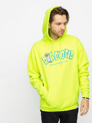 Bluza z kapturem Diamond Supply Co. Nut House HD (safety green)