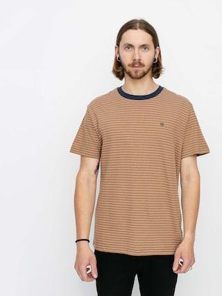 T-shirt Brixton Hilt Knit (coconut/washed navy/white)