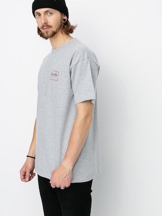 T-shirt Brixton Grade Stnd (heather grey/orange)