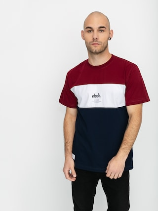 T-shirt Elade Colour Block (maroon/white/navy)