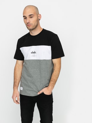 T-shirt Elade Colour Block (black/white/grey)