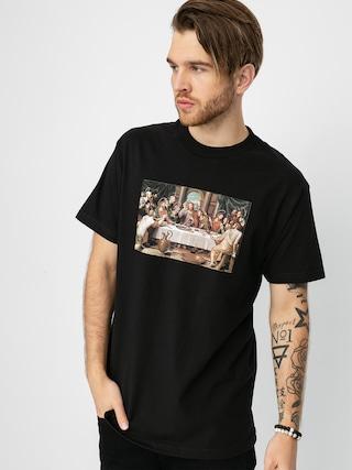 T-shirt Pizza Skateboards Last Supper (black)