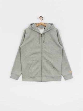 Bluza z kapturem Carhartt WIP Chase ZHD (grey heather/gold)