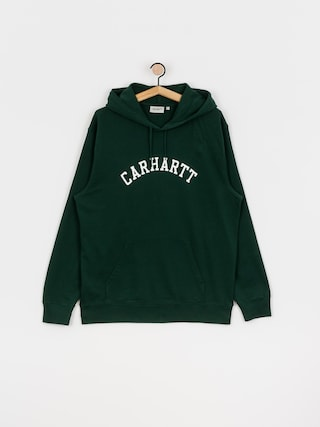 Bluza z kapturem Carhartt WIP University HD (bottle green/white)