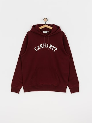 Bluza z kapturem Carhartt WIP University HD (bordeaux/white)