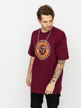 T-shirt Brixton Forte Stt (burgundy)