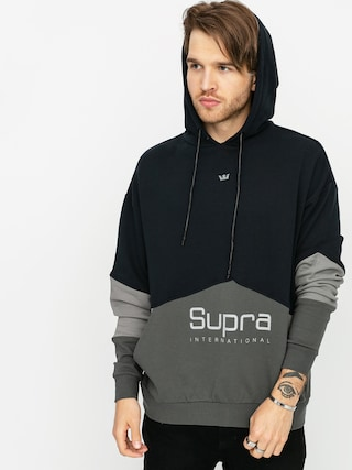 Bluza z kapturem Supra 93 Fleece HD (black grey)
