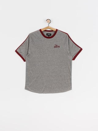 T-shirt Brixton Rogers (heather grey/burgundy)