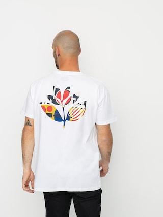 T-shirt Magenta Shapes Plant (white)