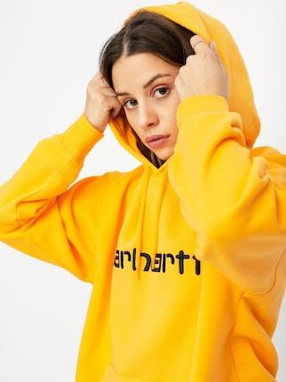 Bluza z kapturem Carhartt WIP Carhartt HD Wmn (pop orange/black)