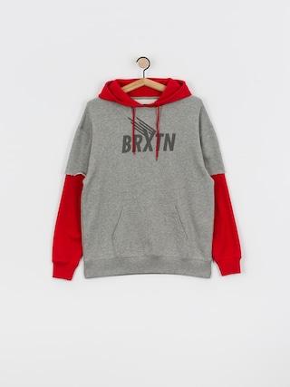 Bluza z kapturem Brixton Rogers 2Fer HD (heather grey/red)