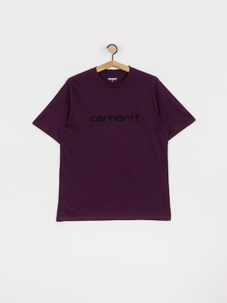 T-shirt Carhartt WIP Script (boysenberry/black)