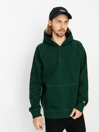 Bluza z kapturem Carhartt WIP Chase HD (bottle green/gold)