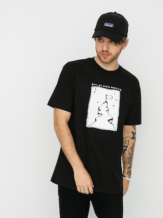 T-shirt Etnies White Flag (black)